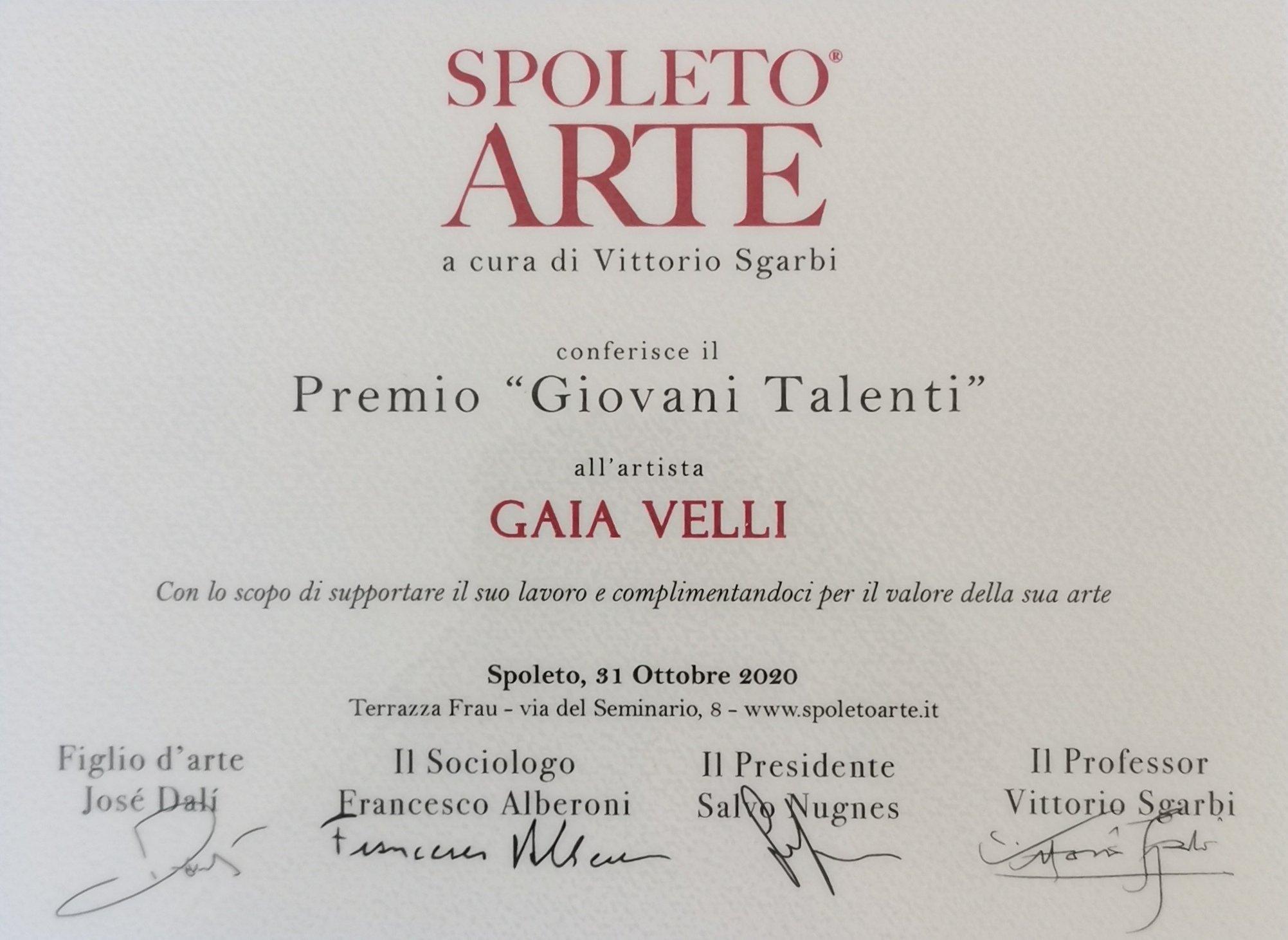Premio Giovani Talenti - Spoleto 2020
